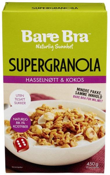 Bare Bra Supergranola med Hasselnøtt & Kokos 450 g
