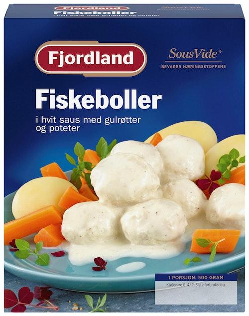Fjordland Fiskeboller i Hvit Saus 500 g