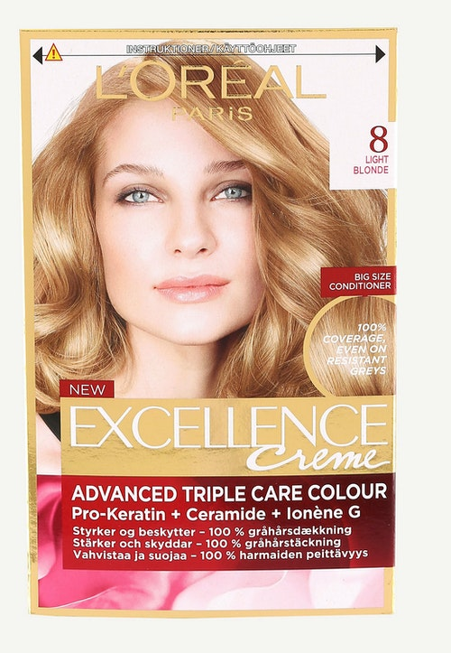 L'Oreal Excellence 8 Lysblond 1 stk