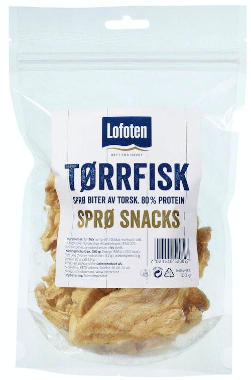 Lofoten Tørrfisksnacks Sprø Biter, 100 g