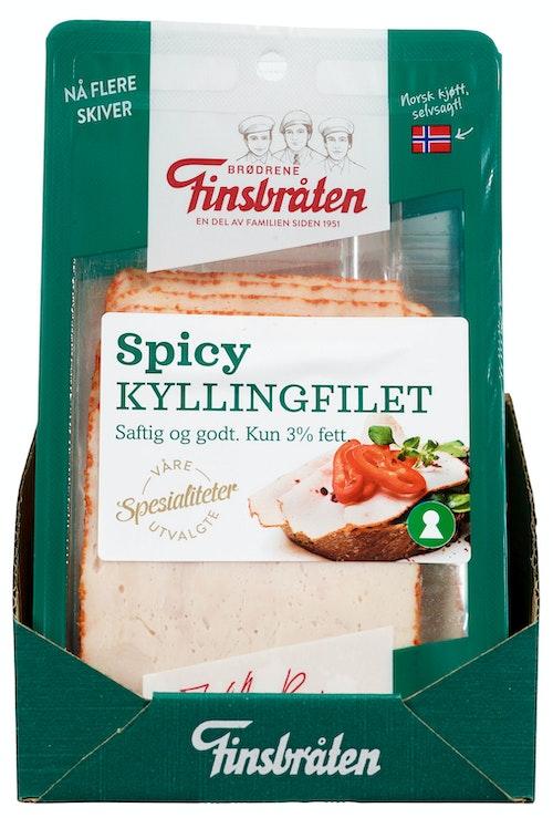 Finsbråten Kyllingfilet Spicy Håndlaget 100 g