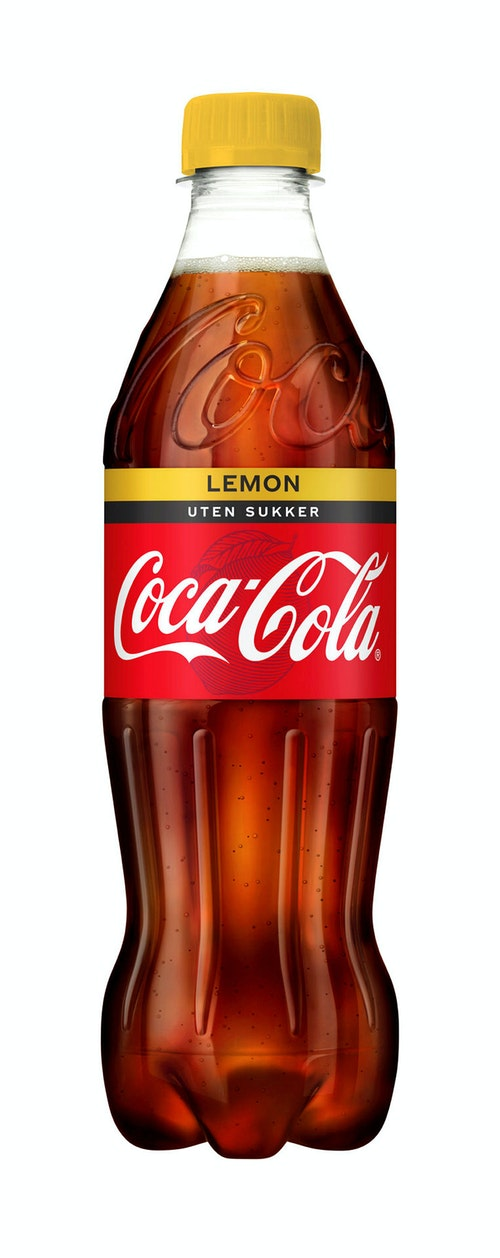 Coca-Cola Coca-Cola Uten Sukker Lemon, 0,5 l