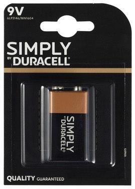 Duracell Batteri 9V Plus Power 1 stk