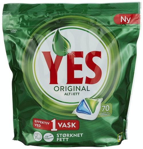 Yes Maskinoppvask Original Alt-i-Ett 70 stk