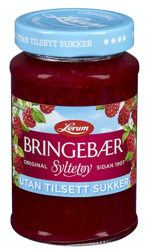 Lerum Bringebærsyltetøy Original Utan Tilsett Sukker 435 g