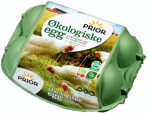 Prior Økologiske Egg Str M/L/XL, 6 stk