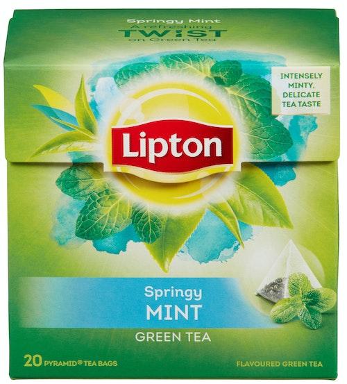 Lipton Green Tea Intense Mint 20 poser, 20 stk