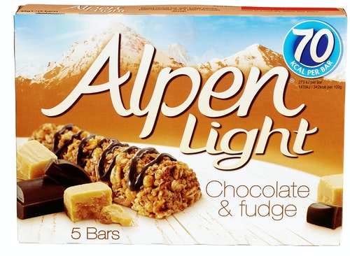 Alpen Alpen Bars Light Chocolate & Fudge, 5 stk, 95 g