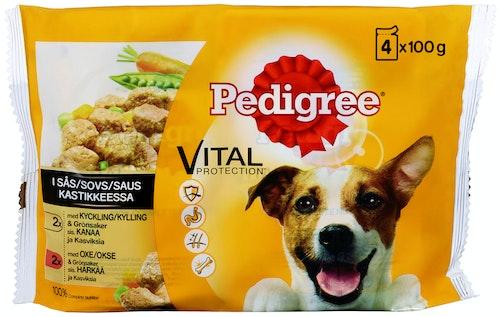 Pedigree Pedigree Vital Kylling og Grønnsaker 4 x 100g, 400 g