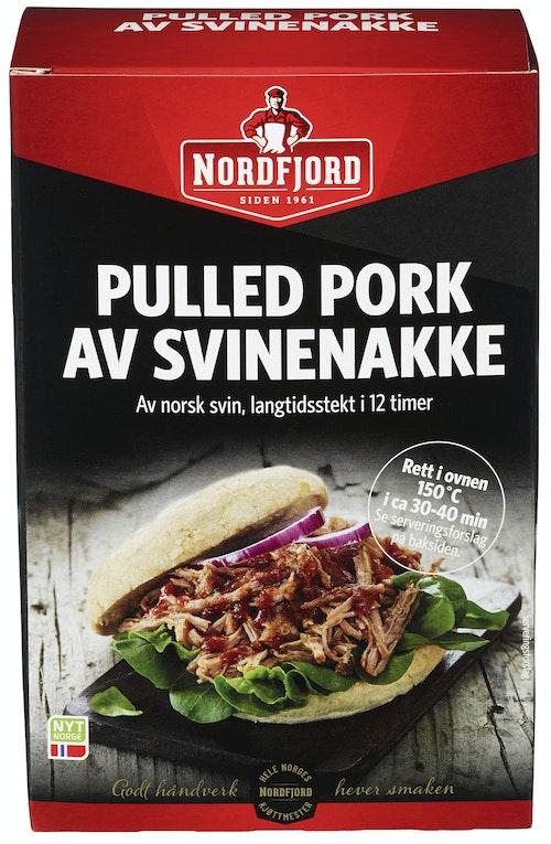 Nordfjord Pulled Pork Langtidskokt Svinenakke, 500 g