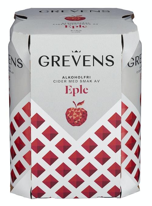 Grevens Grevens Eplecider Alkoholfri 4 x 0,5l, 2 l