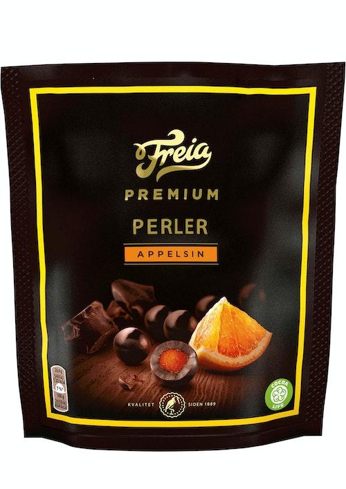 Freia Premium Perler Appelsin 120 g
