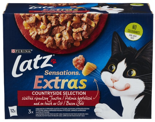 Latz Sensations Extras 12 pk, 1020 g