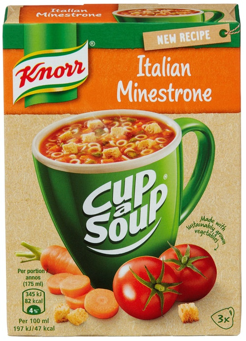 Knorr Minestronesuppe Cup a Soup, 3 stk