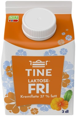 Tine Kremfløte Laktosefri, 0,3 l