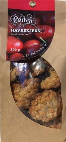 Løiten Havrekjeks med Kirsebær 300 g