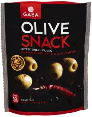 Gaea Snackoliven Chilli & Black Pepper 65 g
