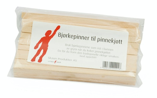 Bjørkepinner til Pinnekjøtt 20 stk