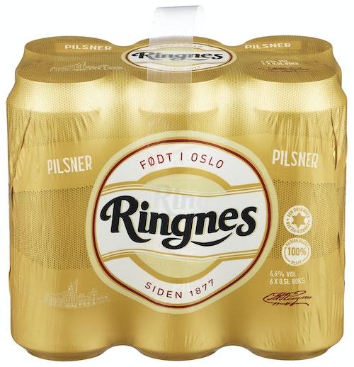 Ringnes Ringnes Pilsner 6 x 0,5l, 3 l