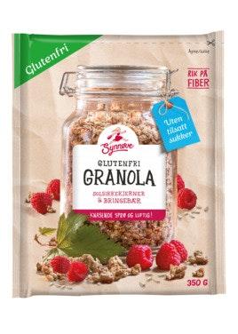 Synnøve Glutenfri Granola Bringebær 350 g