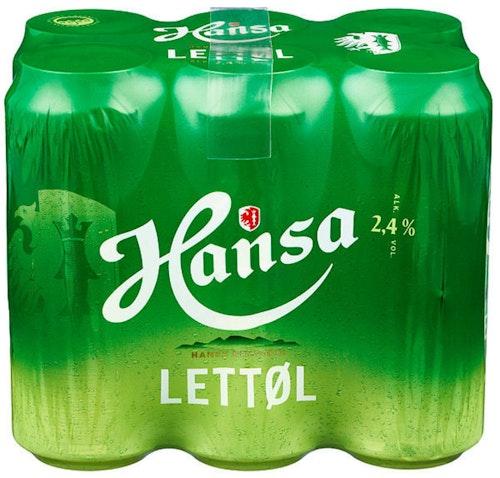 Hansa Borg Hansa Lettøl 0,5 x 6stk, 3 l