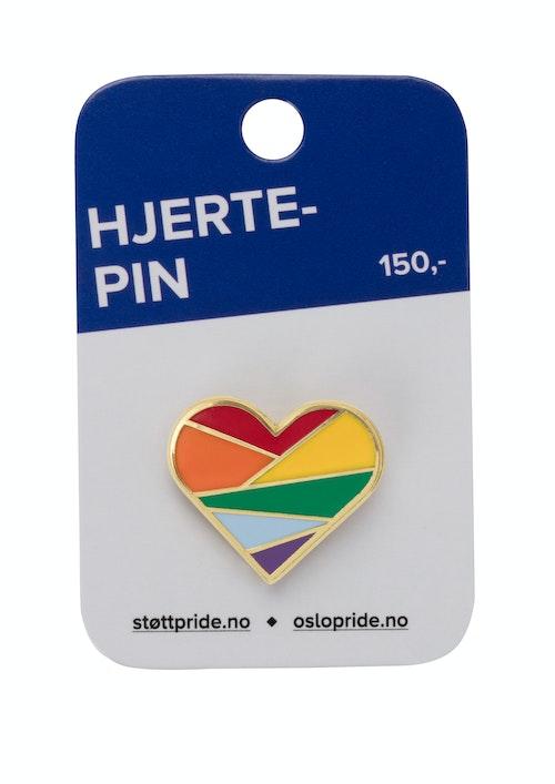 Oslo Pride Støttepin Regnbue 1 stk