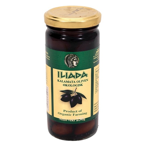 Iliada Kalamata-Oliven Økologisk, 230 g