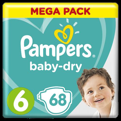 Pampers Pampers Bleie Baby Dry S6 13-18 kg, 68 stk