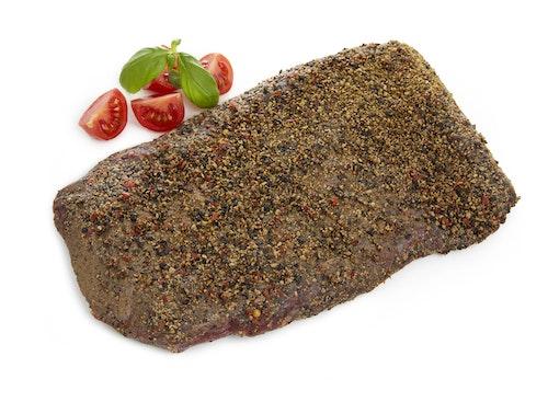 Strøm-Larsen Flanksteak med Grov Pepper Rå, ca. 800 g