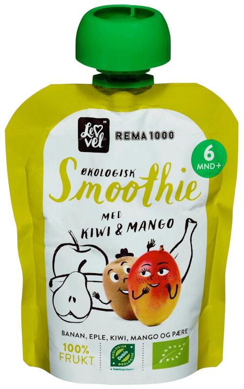 REMA 1000 Lev Vel Smoothie Kiwi & Mango Fra 6 mnd, 90 g
