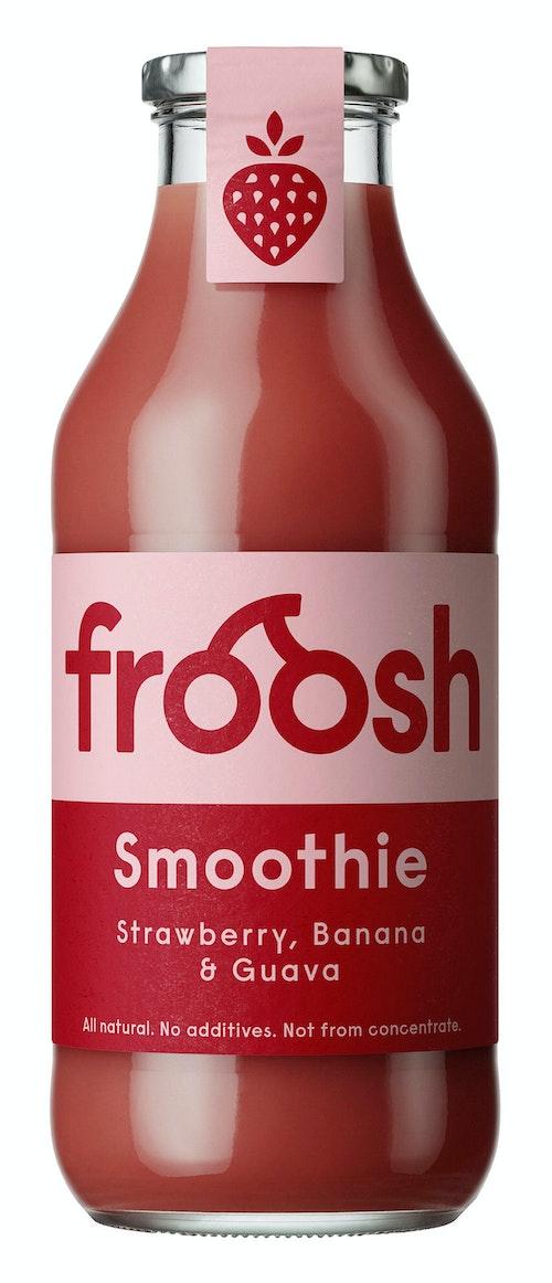 Froosh Smoothie Jordbær, Banan & Guava 750 ml