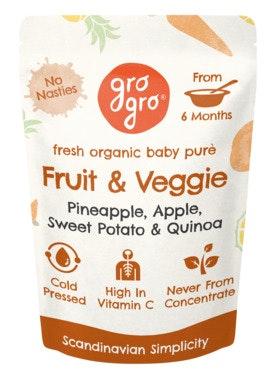 Gro Gro Fruit & Veggie fra 6 mnd økologisk, 100 g
