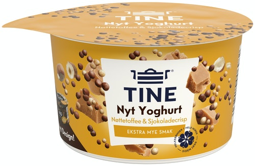 Tine Piano Duo Yoghurt og Nøttetoffee 119 g