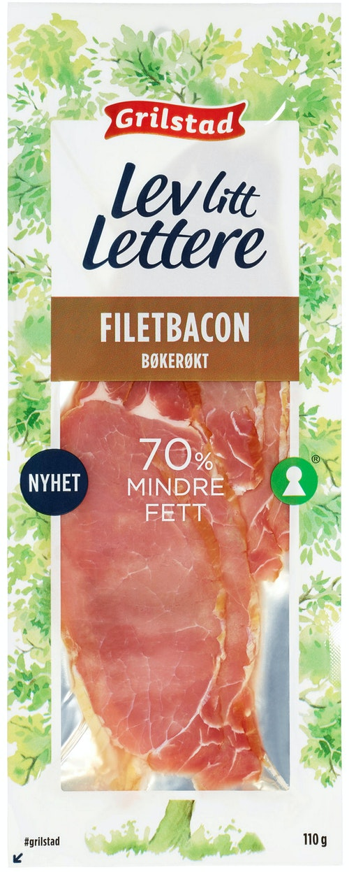 Grilstad Grilstad Lev Litt Lettere Filetbacon 110 g