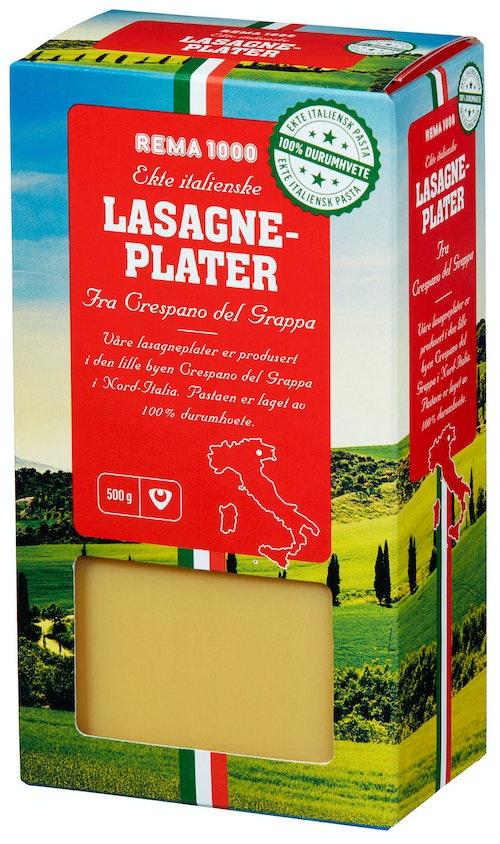 REMA 1000 Lasagneplater 100% Durum, 500 g