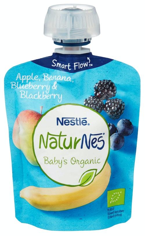 Nestlé Min Frukt Eple & Bjørnebær Smoothie Økologisk, 90 g