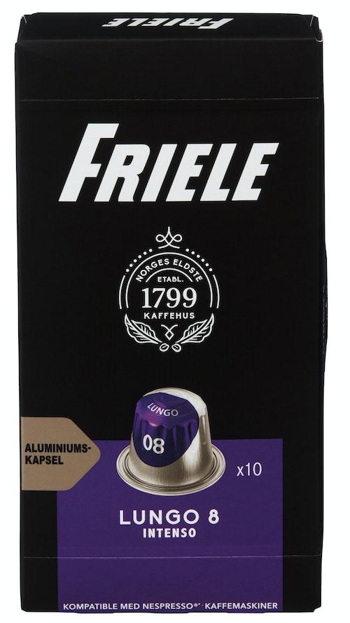 Friele Friele Kaffekaps Lungo 8 Espresso, 10 stk