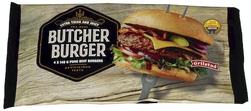 Butcher Burger 4 stk