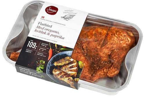 Stanges Gårdsprodukter Flatbird Med Oregano, Hvitløk & Paprika 700 g