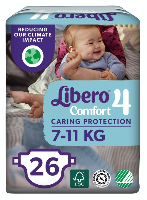 Libero Comfort Str 4 7-11 kg, 26 stk