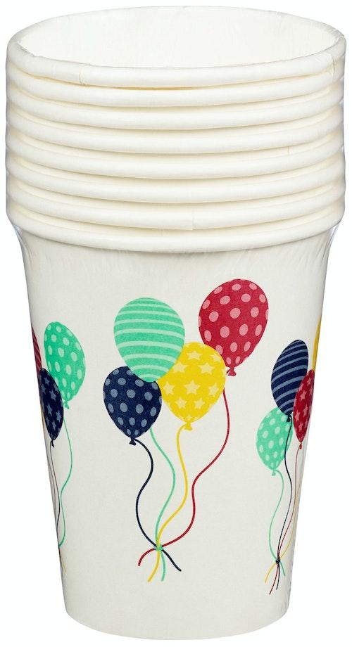 REMA 1000 Pappkopp Ballonger 250 ml, 8 stk