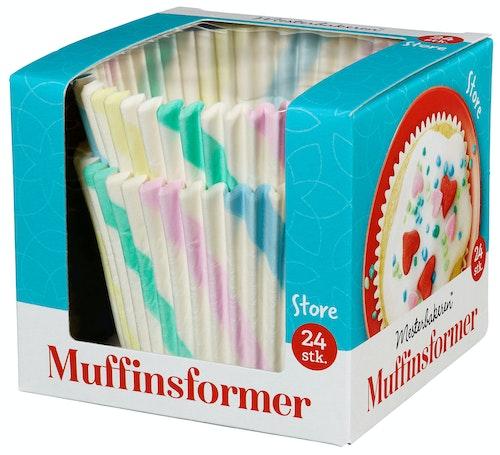 Mesterbakeren Muffinsformer Store 24 stk