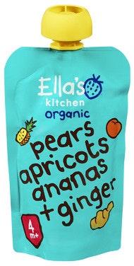 Ella's Kitchen Pære Aprikos Ananas+Ingefær fra 4 mnd, 120 g