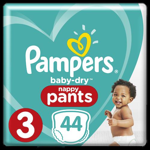 Pampers Pampers Bleie Baby Dry Pants Str.3 6-11kg, 44 stk