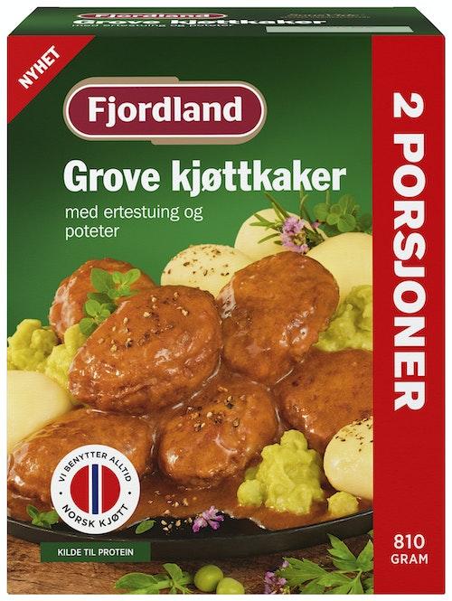 Fjordland Grove Kjøttkaker i Brun Saus Med Poteter & Ertestuing, 810 g
