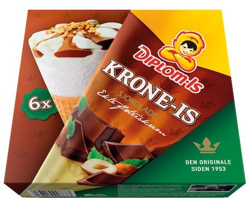 Diplom-Is Krone-Is Sjokolade 6 stk