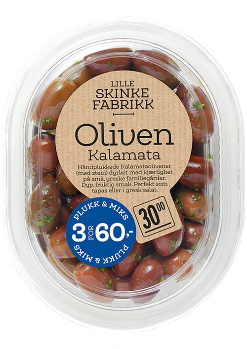Lille Skinkefabrikk Kalamata Oliven 130 g