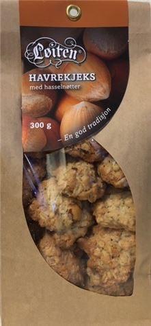 Løiten Havrekjeks med Hasselnøtter 300 g