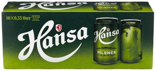 Hansa Borg Hansa Pilsner 10 x 0,33l, 3,3 l