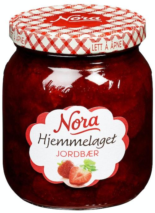 Nora Jordbærsyltetøy Hjemmelaget 400 g